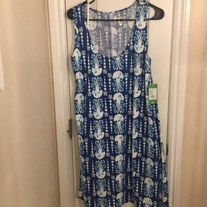 Lilly Pulitzer Melle Dress Blue Get in Line